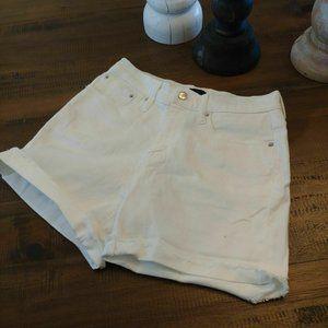 Size 25 | J. CREW High Waist Shorts White